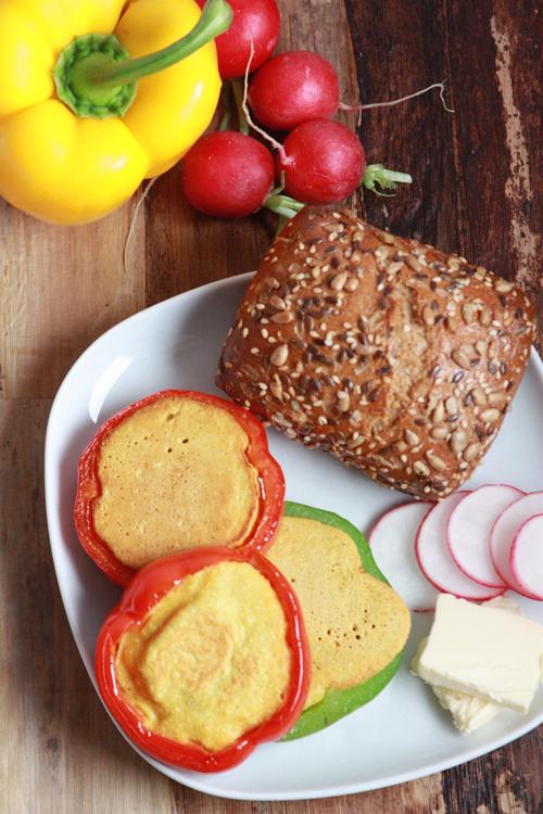 Paprika Omelette vegan ohne Eier