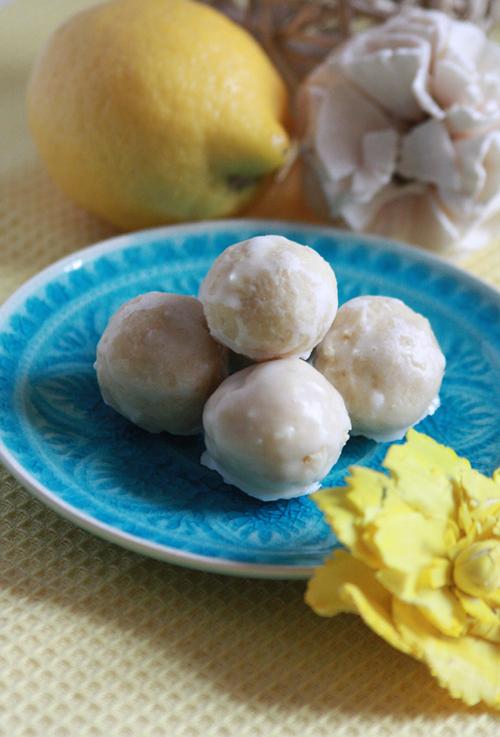 Weiße Zitronen Butterpralinen vegan