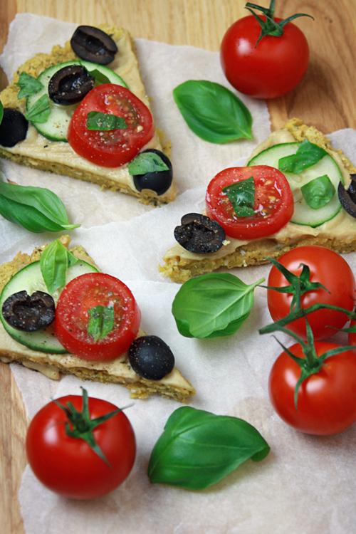 Falafel-Pizza vegan und glutenfrei