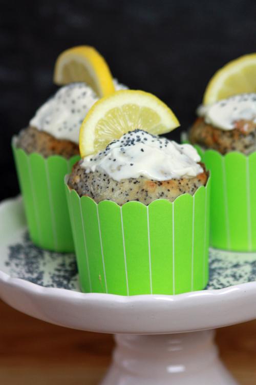 Quark Mohn Frühstücksmuffins vegan und glutenfrei